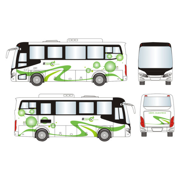 The sticker design on the coach
